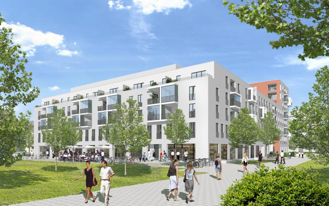 Wohn-, Einzelhandels- und Gewerbegebäude Parkviertel Giesing